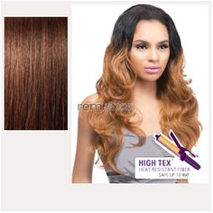 Quick Weave Batik Bundle Hair Malaysian  - Color 4 - Synthetic (Curling Iron Safe) Half Wig