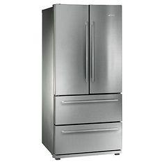 Buy Smeg FQ55FX 4-Door American Style Fridge Freezer, Stainless Steel Look Online at johnlewis.com