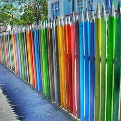 What's the colour of your mood today? (Fencing around a kindergarten in Świnoujście, Poland.) #poland #usedom
