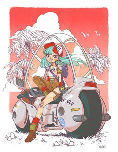 Bulma by BabsDraws on Etsy, $30.00