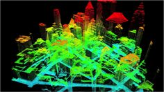 LIDAR imagery showing solar potential of NYC buildings   Image via stateoftheplanet