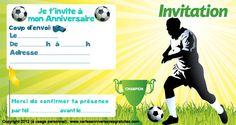 Carte Invitation Anniversaire Pour Les Petits Amateurs De Football