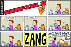 Find your favorite Garfield comic strips by date or keyword. Garfield Cartoon, Garfield Comics, Garfield And Odie, Cartoon Memes, Cartoons, Funny Animal Pictures, Funny Animals, Animal Pics, Coffee Cartoon