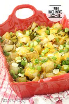 Loaded Baked Potato Casserole for an easy family dinner