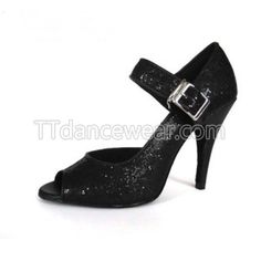 Free Shipping Wholesale Black Glitter Latin Salsa Ballroom Dance Shoes
