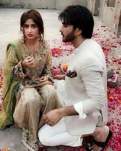 Sajal ali with imran abbas