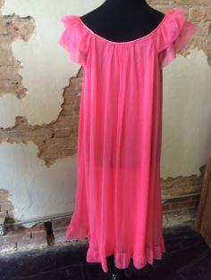 Pretty in Pink vintage nightgown   www.therufflifelingerie.com