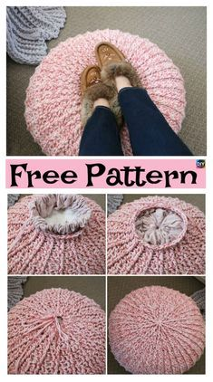 Cozy Crochet Floor Pouf – Free Pattern #freecrochetpatterns #floorpouf #homedecor