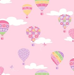 Create a space that's truly unique with Brewster You Are My Sunshine Hot Air Balloons Wallpaper. Made from unpasted non-woven material, this wallpaper is washable and strippable. This stylish wallpaper is sure to add the finishing touch to any room. Wallpaper Stores, Kids Wallpaper, Wallpaper Samples, Print Wallpaper, Colorful Wallpaper, Wallpaper Backgrounds, Balloon Show, Hot Air Balloon, Ballon Rose