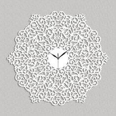 Stylish, ornamental wall clock BELLARTE, italian style, wooden wall clock, wall art decor - living r Wall Clock Gift, Wall Clock Wooden, Wooden Wall Decor, Clock Decor, Wall Art Decor, Wall Clocks, Plywood Furniture, Wall Clock Vector, Victorian Clocks