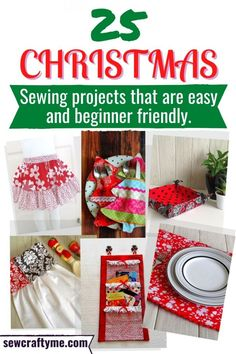 Check out these 25 Christmas Sewing Projects that are easy and quick to sew. These free sewing tutorials are perfect for beginners. Be it for your home, yourself or your kids, this DIY sewing pattern round up offers a collection of patterns that are just right for the season. #sewingpatterns, #sewingtutorial #howtosew #easysewingprojects, #beginnersewing,#sewingprojects #easythingstosew, # Diysewingprojectseasy #sewingdiyeasy #christmasewingprojects #christmasewingideas