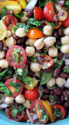 Middle Eastern Chickpea & Black Bean Salad
