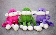 Knit Monkey Stuffed Animal Toy Jerry the Amigurumi by AllStuftUp, $49.00