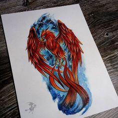 #sketch #tattoosketch #drawing #scketchbook #scribble #phoenix #phoenixart #phoenixtattoo  #watercolor #markers #markersketch #flexmarker #promarker #copic #colorful #tattoosketch #tattooartist