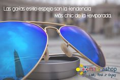 Son la combinación perfecta con cualquier #outfit, te harán lucir súper chic, elegante y sofisticada. #Fashion #Glasses #SunGlasses #MirrorGlasses #BlueGlasses #FashionGlasses #TrendyGlasses #Accessories