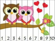 14 Valentine themed puzzles for counting practice with numbers to Simply print, cut apart, and laminate. Great for math centers! Aligned to Kindergarten Common Core Standards. Puzzles included: Counting by 10 puzzles ~ Counting Puzzles, Maths Puzzles, Kindergarten Goals, Kindergarten Activities, Autism Activities, Book Activities, Preschool Classroom, Preschool Crafts, Teaching Kids