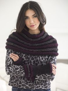 This ribbed cowl and wrister set is perfect for a crafter who loves working with textures.