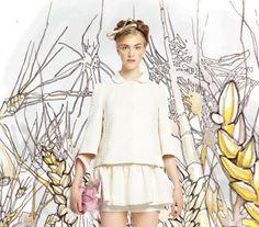 Saia e camisa branca- red valentino 2014
