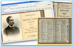 """A collage of family history material found on Internet Archive. Read more on the GenealogyBank blog: """"Top Genealogy Websites, Pt. 2: Google Books & Internet Archive."""""""