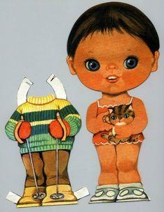 Bonecas de Papel: ESPECIAL - Manuela e Sandra