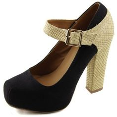 a99fc2aea3d0 Qupid Trish-24 Canvas Snake Skin Mary Jane Shoes - Trish-24 Beige Fashion  smooth fabric material