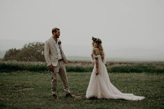 If bohemian camp vibes are your thing, you're going to love this outdoor wedding at Wind Wolves Preserve that features DIY tents for the bride and groom.