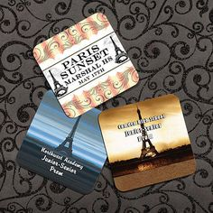 Our Paris Pulp Board Coasters feature your choice of one of our fantastic Parisian designs,