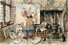 Trabalhos ricos em detalhes, com vida própria e cores magnificas. Anton Pieck usou óleo, trabalhou com aquarela, gravura e litografia.