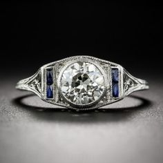 .91 Carat Diamond Art Deco Engagement Ring - GIA K SI1