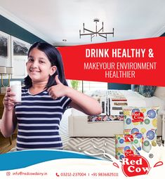 Give your child a healthy life and a healthy environment with healthy drink To order Red Cow Dairy Milk Call: 9836825111 Healthy Environment, Healthy Drinks, Your Child, Healthy Life, Cow, Dairy, Milk, India, Children