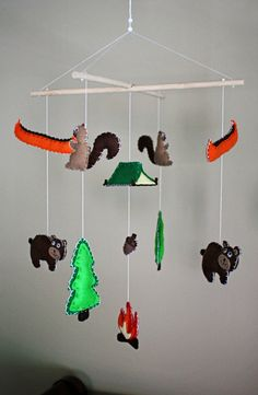 Camping / Woodsy / Rustic  Baby Mobile by EmilysSpace on Etsy, $58.00