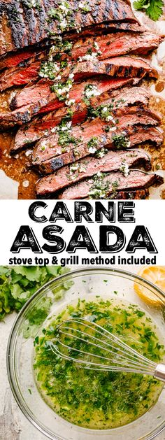 Authentic Carne Asada Recipe + The BEST Marinade! This tender Carne Asada recipe is flavorful and p Grilling Recipes, Meat Recipes, Mexican Food Recipes, Dinner Recipes, Cooking Recipes, Healthy Recipes, Ethnic Recipes, Grilled Steak Recipes, Pozole