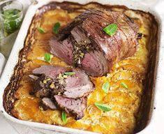 Marrakech lamb with tahini squash gratin