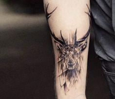 Deer tattoo by Versus Ink