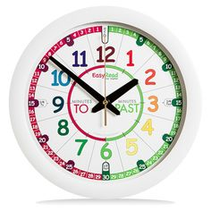 Many parents are looking for a teaching clock that looks much like a normal analogue clock and also efficiently helps their children master telling the time. The EasyRead Time Teacher Clock fulfils both these needs with its unique EasyRead dial and 3 step teaching system. This beautiful clock is designed to be continually appealing to children as they progress through the primary school years. The colours used help the clock blend with any décor and appeal to both boys and girls.