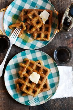 Pumpkin-Beer Waffles!