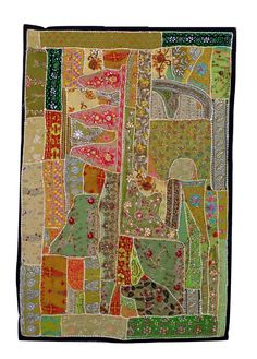 Indian Banjara Style Patchwork Tapestry - Wholesale Beaded Embroidered Tapestry - Home decor Indian Tapestry - wall hanging - door hanging