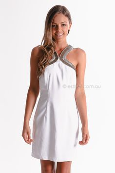 seduce opposites attract dress - white  | Esther Boutique