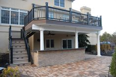 Design Ideas For Your Deck Patio Under Decks, Decks And Porches, Deck Patio, Cool Deck, Diy Deck, Second Story Deck, Deck Stairs, Backyard Patio Designs, Building A Deck