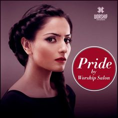 An intricate fishtail braid loosely draped over one shoulder- Pride by #WorshipSalon. What do you think?