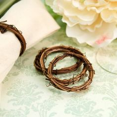 Vine Napkin Rings, perfect for a Rustic Wedding