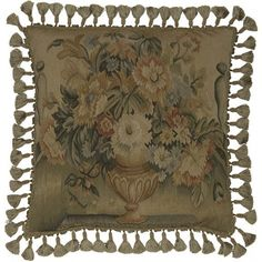 ~ Hand Woven Aubusson Tapestry Pillow ~