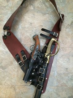 Pirate Baldric Pistol & Sword NOT Included by BlackwoodCreations Sword Sheath, Sword Belt, Pirate Garb, Pirate Cosplay, Assassins Creed, Jack Sparrow Costume, Hidden Weapons, Pirate Boats, Renaissance