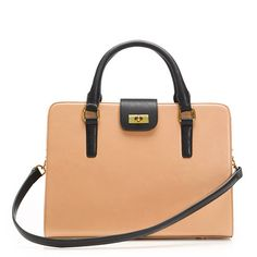 Edie attaché bag in two tone