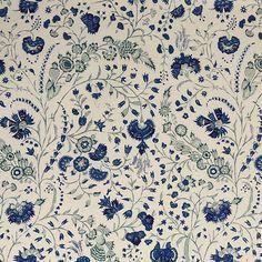 Dianthus Chintz in Lapis Linen #Soane #DianthusChintz #LapisLinen