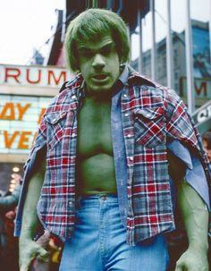 Marvel in film - 1979 - The Incredible Hulk - Lou Ferrigno as Hulk Comic Book Heroes, Marvel Heroes, Marvel Dc, Marvel Comics, Comic Books, Comic Art, Stan Lee, The Incredible Hulk 1978, Hulk Movie