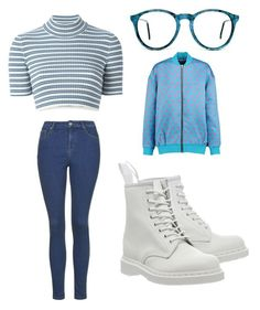 """""""Blue"""" by madddgalriri ❤ liked on Polyvore featuring Alessandra Rich, Topshop, Markus Lupfer and Dr. Martens"""