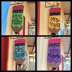Teacher Door Hangers, Teacher Doors, Teacher Signs, Pencil Door Hanger, Teacher Christmas Gifts, Teacher Appreciation Week, School Decorations, Classroom Decor, Classroom Organization