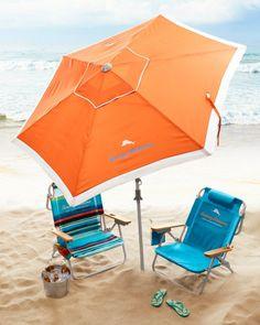TOMMY BAHAMA Orange Deluxe 7' Beach Umbrella $54.95