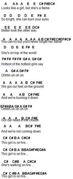 Flute Sheet Music: Girl On Fire